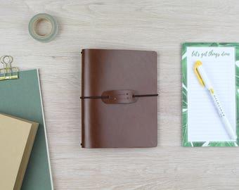 """Traveler's notebook """"chestnut"""" - A6"""