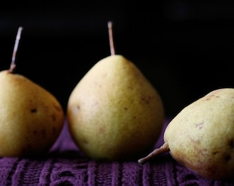 Three is a crowd, still life with pears, Fine art photograph, 8.5x11 print