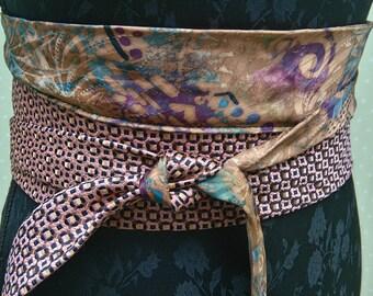 OOAK/ Artsy Tie belt /necklace/shawl/Endladesign/Handmade/fantasy/bridesmaid tie belt
