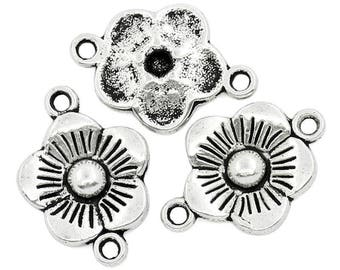 15 connectors flowers CADMIUM-free zinc alloy