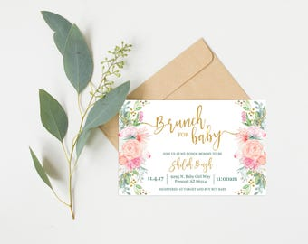 Brunch Baby Shower Invitation