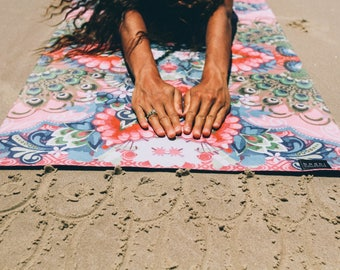 SHIVA Luxe Printed Yoga Mat | Premium Eco Friendly Natural Rubber & Soft Suede