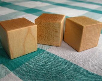 Set of 3 Maple Blocks