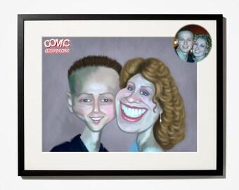 Couple / family / caricature /  Portrait / illustration / cartoon / art / funny