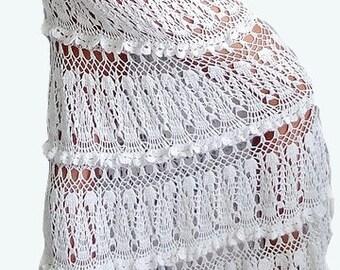 Crocheted long skirt, made to order, crochet handmade, chic, elegant, spring, summer, beach, women skirt, women fashion, beach crochet skirt
