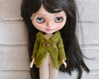 Dolls Green Multi Knitted  Jacket Cardigan