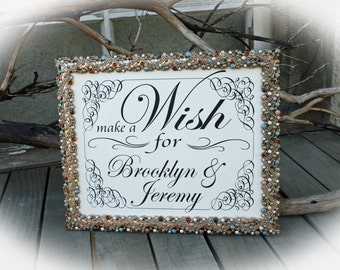 NOT a printable-  8 x 10 Wedding Sign- Wishing Tree Sign-Vintage Style
