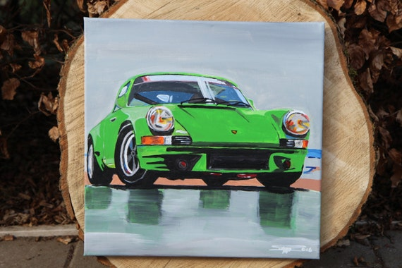 Acrylic Picture Porsche 911 Model F On Canvas Abstract