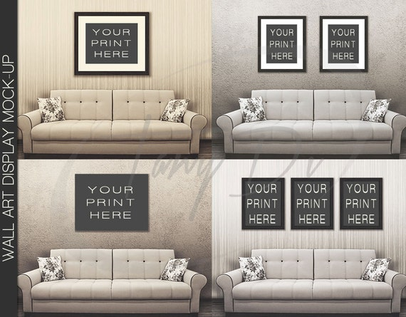 22 By 28 Frame White: 11x14 22x28 33x42 White Sofa Wall Interior 1 Black Frames
