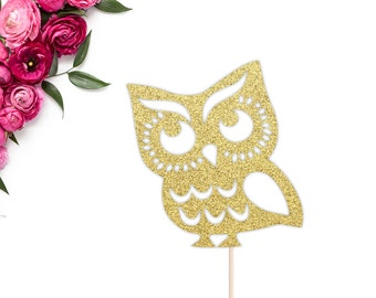 Owl Cake Topper | Baby Shower Cake Topper | Birthday Cake Topper | Owl Birthday Party Decor | Owl Baby Shower Theme | Owl Party Decorations