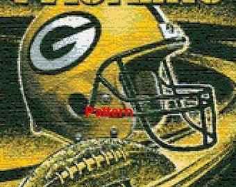 Green Bay Packers Mascot #1. Cross Stitch Pattern. PDF Files.