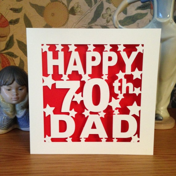 Dad 70th birthday card 30th 40th 50th 60th 75th like this item bookmarktalkfo Choice Image