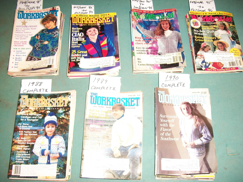 Vintage 1988 thru 1996 Workbasket Magazines..Complete
