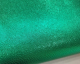 Metallic Green Leatherette Sheet 1.1mm thick A4 A5 Size Green Faux Leather Fabric Green PU Leather Litchi Embossed Mermaid Green Leath