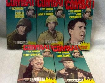 Combat TV Series set of 5 VHS 1987 free ship to US.