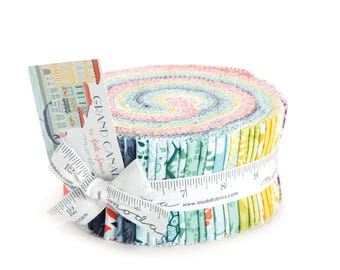"""Moda GRAND CANAL Jelly Roll 27255JR 40 2.5"""" Quilt Fabric Strips By Kate Spain"""
