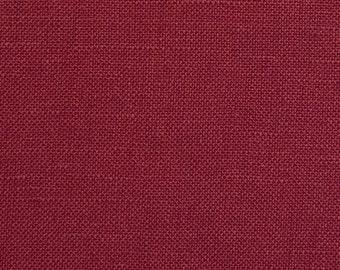Burgundy European 100% Linen Fabric By the Yard 5oz