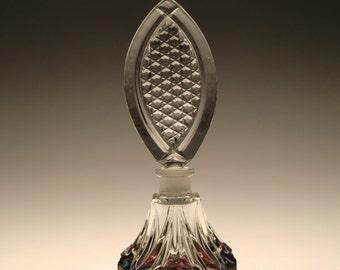 Bohemian Czech Art Glass Perfume Bottle Iridescent