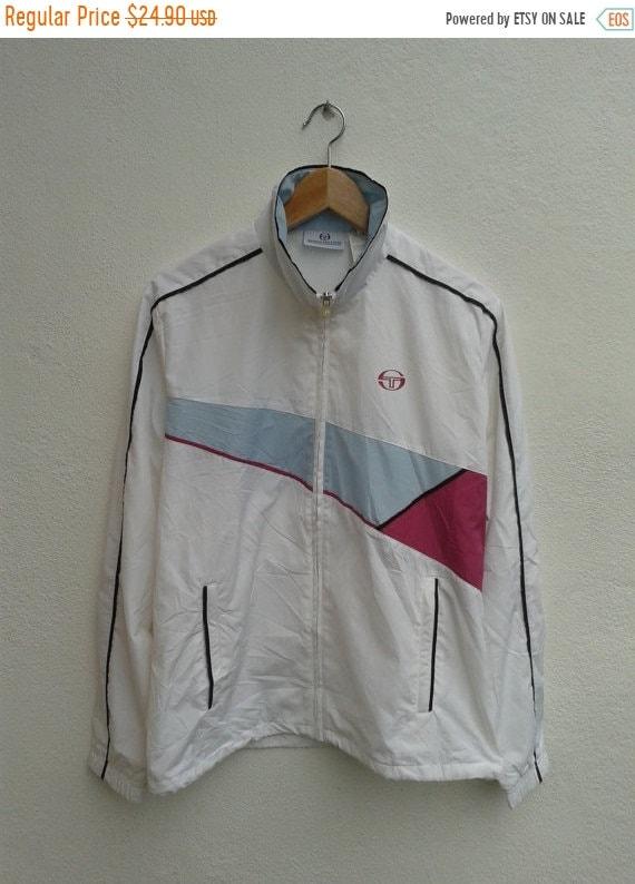 Sale !!! Vintage 90s Sergio Tacchini Button Ups Sweatshirt yGGXr2