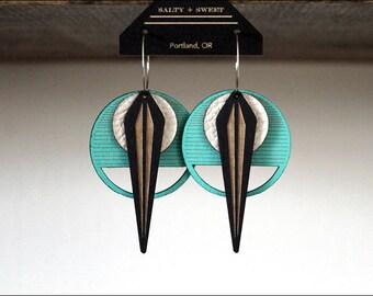 Laser cut earring | LA NAJA: Turquoise