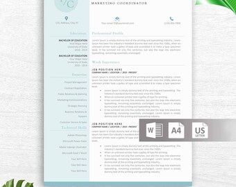 Educator Resume Template for Word | Principal Resume | Teacher CV | Teacher Resume | Resume for Teachers | Creative Teaching Resume