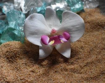 Flower hair clip (silk orchid)