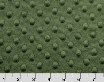 Hunter Green Dimple Minky From Shannon Fabrics - Choose Your Cut