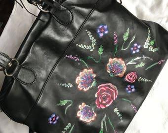 Floral Painted Bag