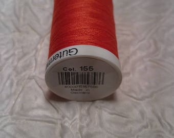 A WIRE SEW GUTERMANN. SPOOL 250 MT. COLLAR. 155 BRIGHT ORANGE.