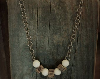 white, agate, necklace, silver, jewelry