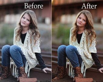 Warm Color Burst Photoshop Action - Instant Download