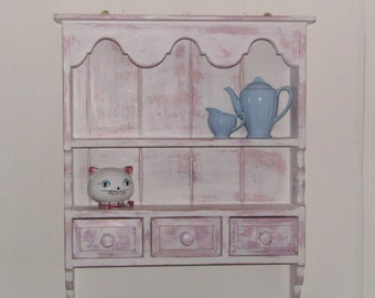 Pine Wall Shelf painted in mix of Annie Sloan chalk paint, pantone 2016