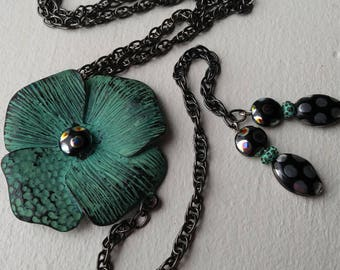 Flower fun!  up cycled necklace