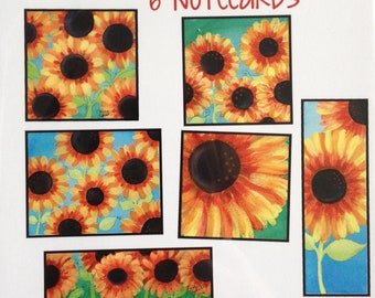 Sunflower Illustration - Note cards - Inspiration and Happiness - Blank Stationary
