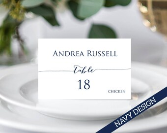 Place Card Template, Place Cards with Meal Choice, Place Cards Wedding, Place Cards Printable, Place Cards With Meal Option, Seating Cards