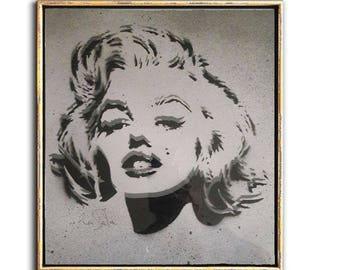 Marilyn in Shades of Gray, Pop Art, Fashion, Urban Art, Icon