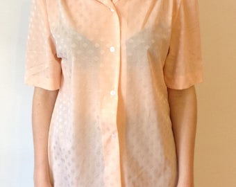 70s pink blouse