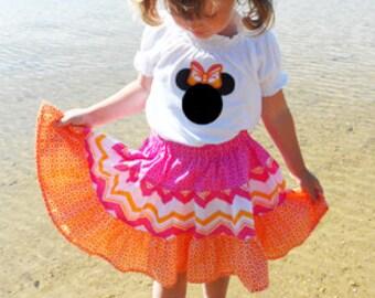 Instant Download- Melissa Twirl Ruffle Skirt  PDF Skirt Pattern 0/3M-7 Sewing Pattern Tutorial E Book