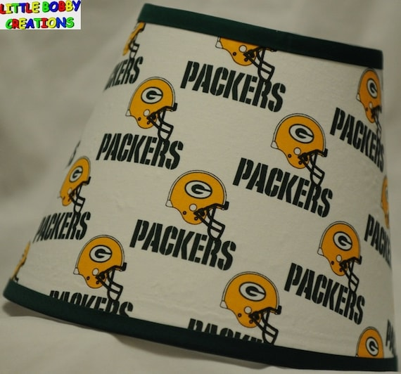 Nfl football green bay packers fabric lamp shade 10 sizes to mozeypictures Image collections