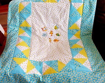 Sea stars - quilt for baby