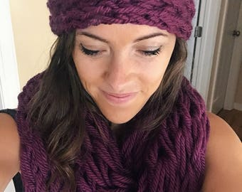 Finger Knit Headbands