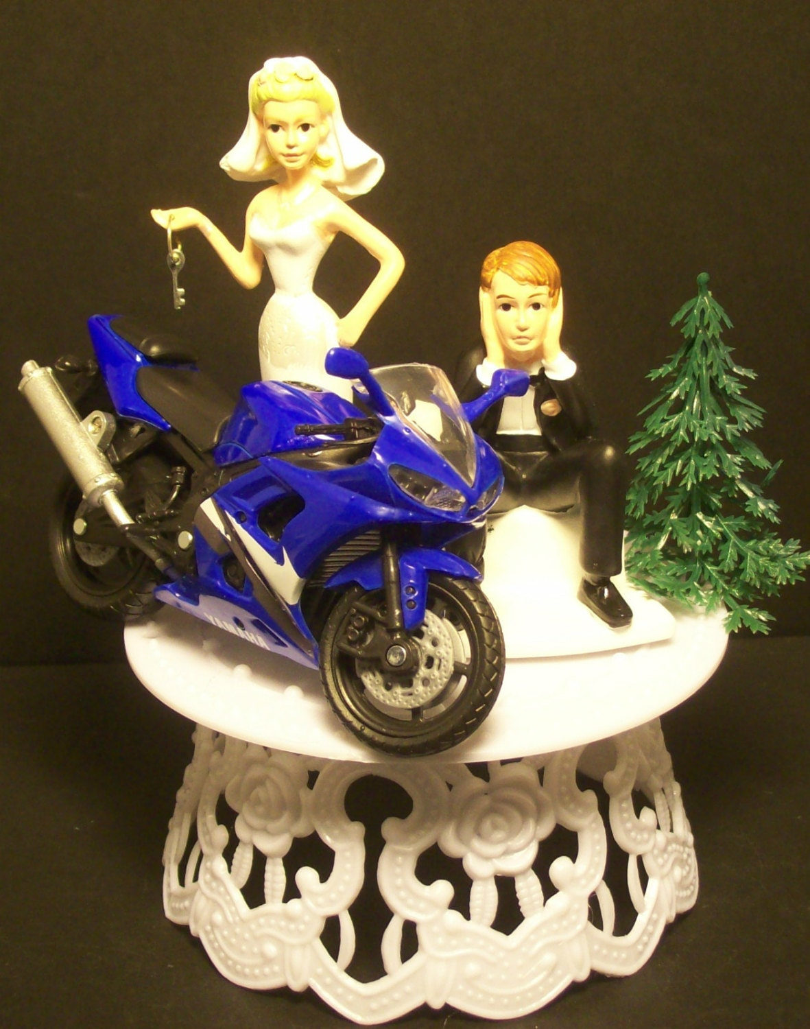motorcycle wedding cake toppers unique motorcycle yamaha r6 yzf bike or your bike and 17617
