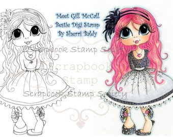 DESCARGA instantánea Digital Digi sellos ojo grande Big Head Dolls Digi Besties jengibre por Sherri Baldy
