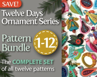 Twelve Days Series Complete 1-12 PDF Pattern Bundle: A discounted set of all twelve patterns