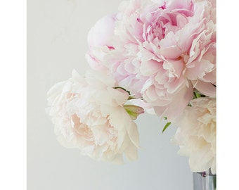 Peony Wall Art, Peony Decor, Peony Print, Cottage Chic Decor, Bedroom Decor, Pink Peony, Flower Photography, Floral Print