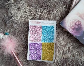 I don't believe in humans glitter headers.Removable matte. A la carte kit add on. Erin condren. Happy planner. TN. Unicorns