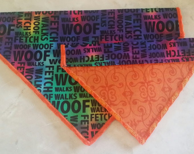PET BANDANAS-Dog n' Cat-Rainbow Dog Talk