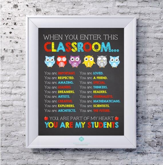 Teacher Poster - Colourful Teacher Classroom Poster - Teacher Printable Art - Wall Decor  -8x10  - Teacher Gift -Instant Digital Download