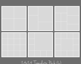 24x24 Photo Template Pack, Collage, Photographers, Storyboard