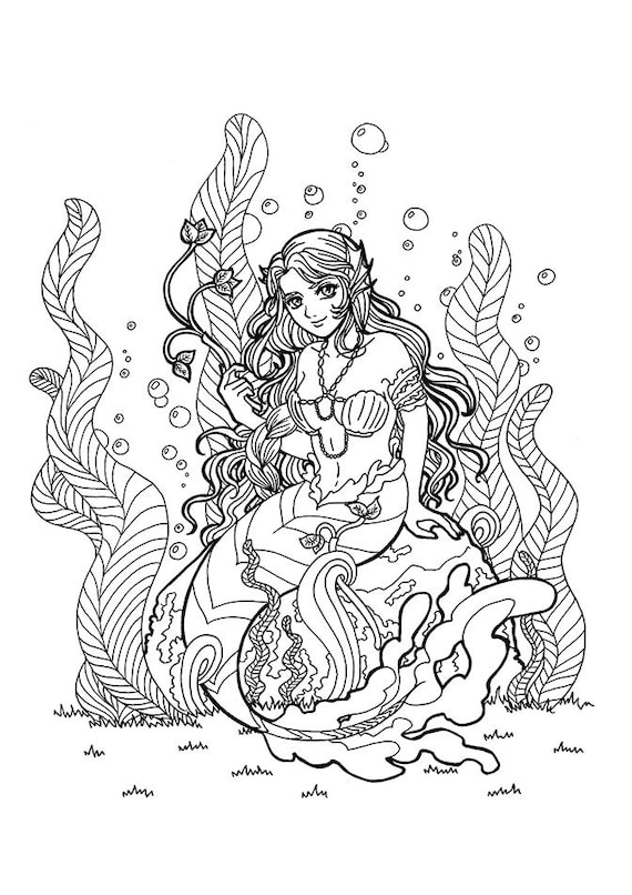 free coloring pages mermaids  »  9 Picture » Creative..!
